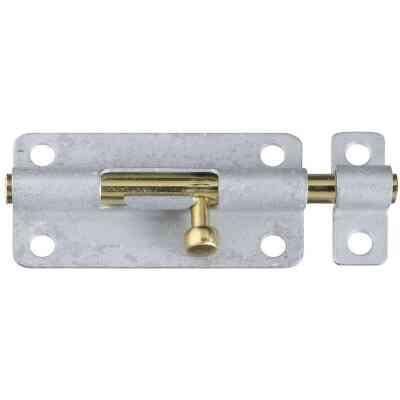 National 4 In. Galvanized Steel Door Barrel Bolt