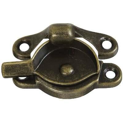 National Antique Brass 7/8 In. Crescent Sash Lock